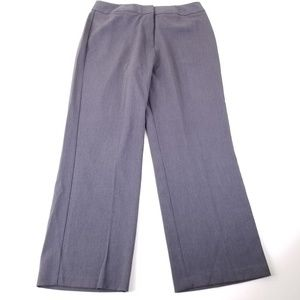Investments Gray Straight Leg Dress Pants